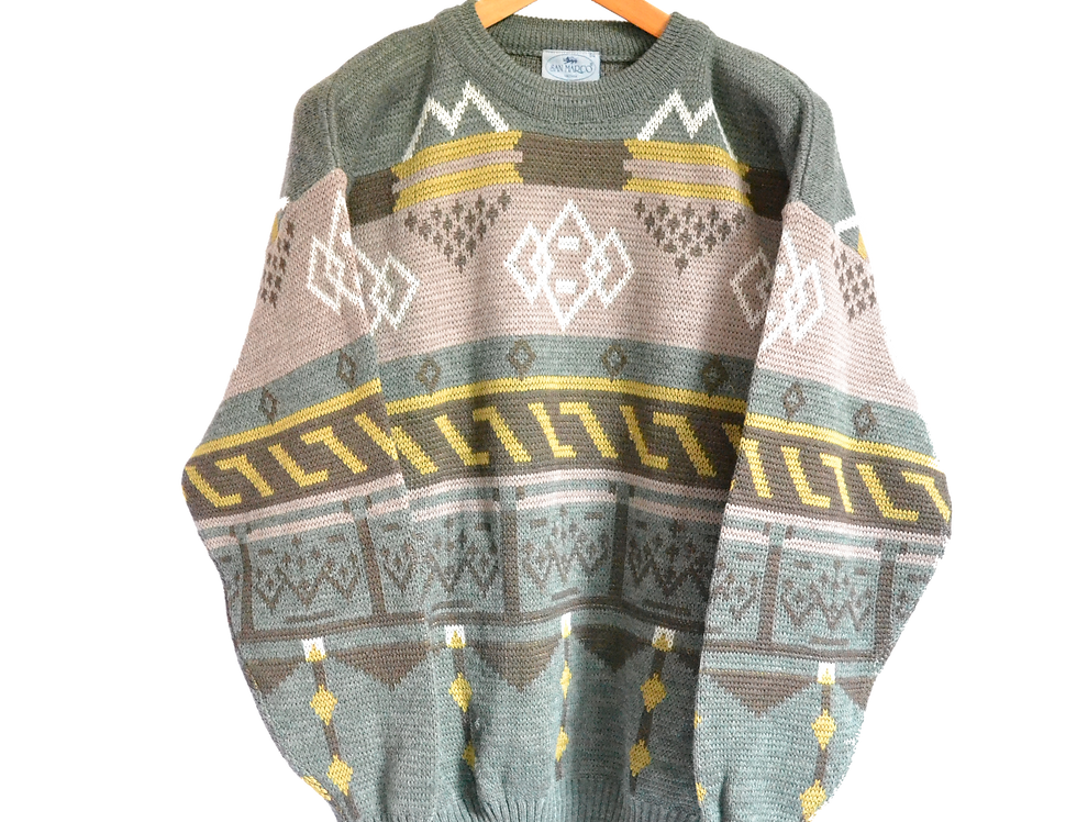 Norwegian Style Knitted Jumper XL