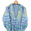 Thumbnail: Turqoise Knitted Button up Jacket S