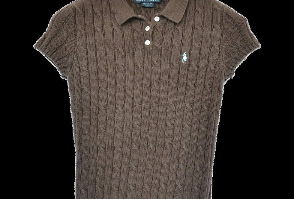 Ralph Lauren Knitted Polo Dark Choclate XS