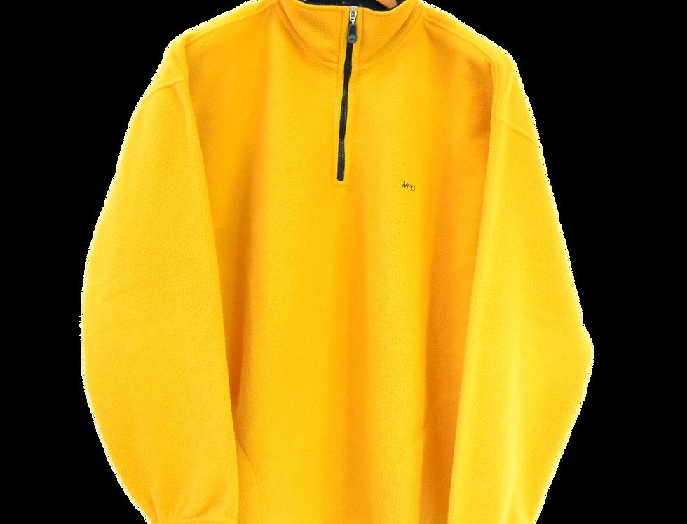 McGregor 1/4 Fleece Yellow L