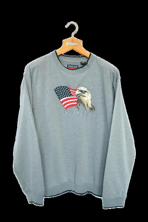 Patriotic USA Freedom Crewneck L