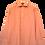 Thumbnail: 80's Light orange Collar Dress Shirt L