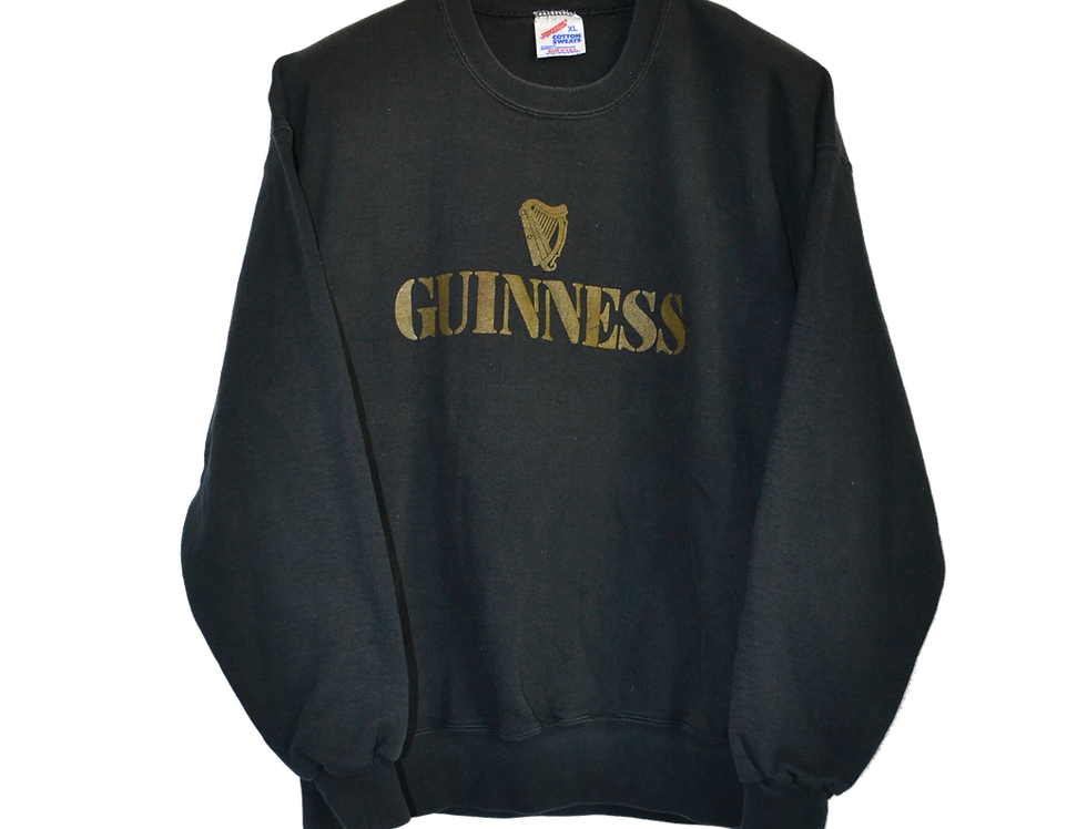 Guinnes Beer Black'n Gold Sweatshirt