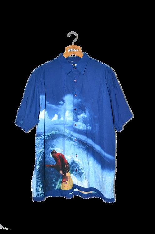Super Chill Dude on Big Ass Wave Graphic Shirt XXL