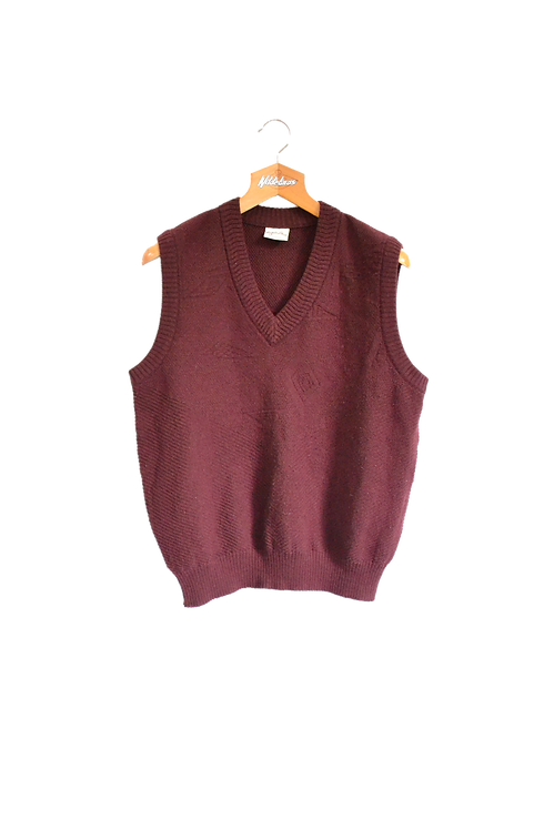 Knitted Spencer Bordeaux  L