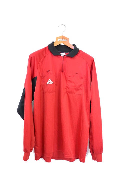Adidas Lonsleeve Polo Jersey Red XXL