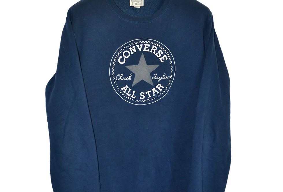 Converse All Star Navy Blue Sweatshirt XL