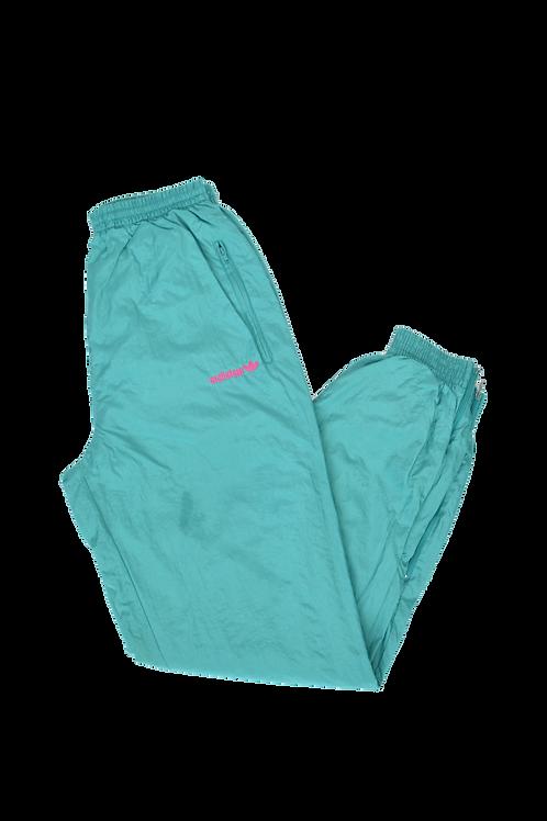 90s Adidas cyan Track pants S