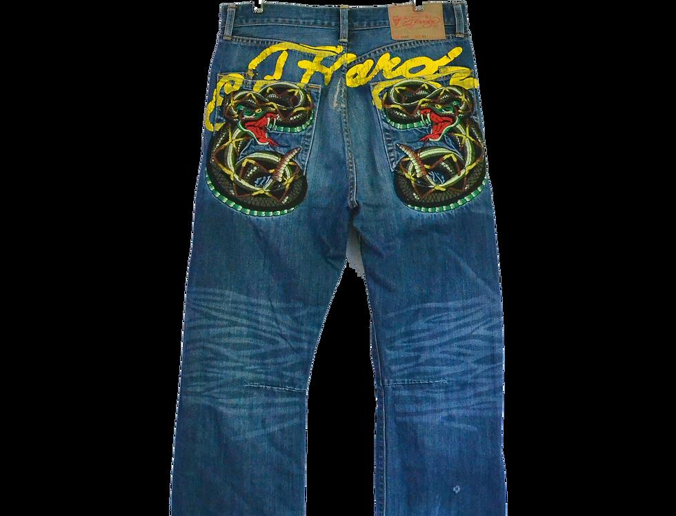 Ed Hardy Rattlesnake Jeans 34 x 32