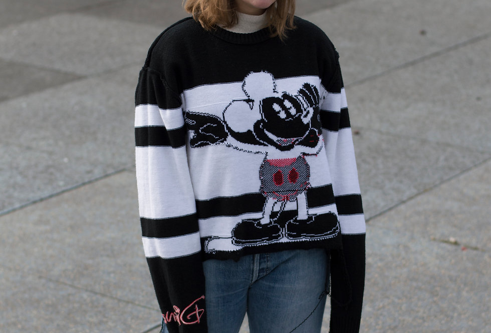 Lage Crop Top Trui Mickey Mouse