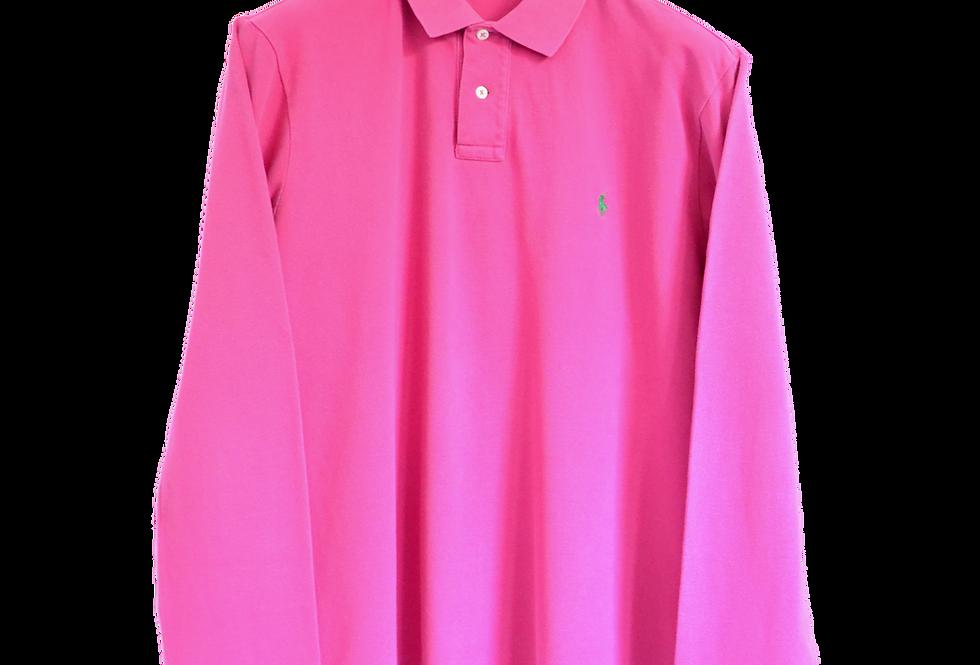 Ralph Lauren Long Sleeved Polo Shirt Hot Pink L
