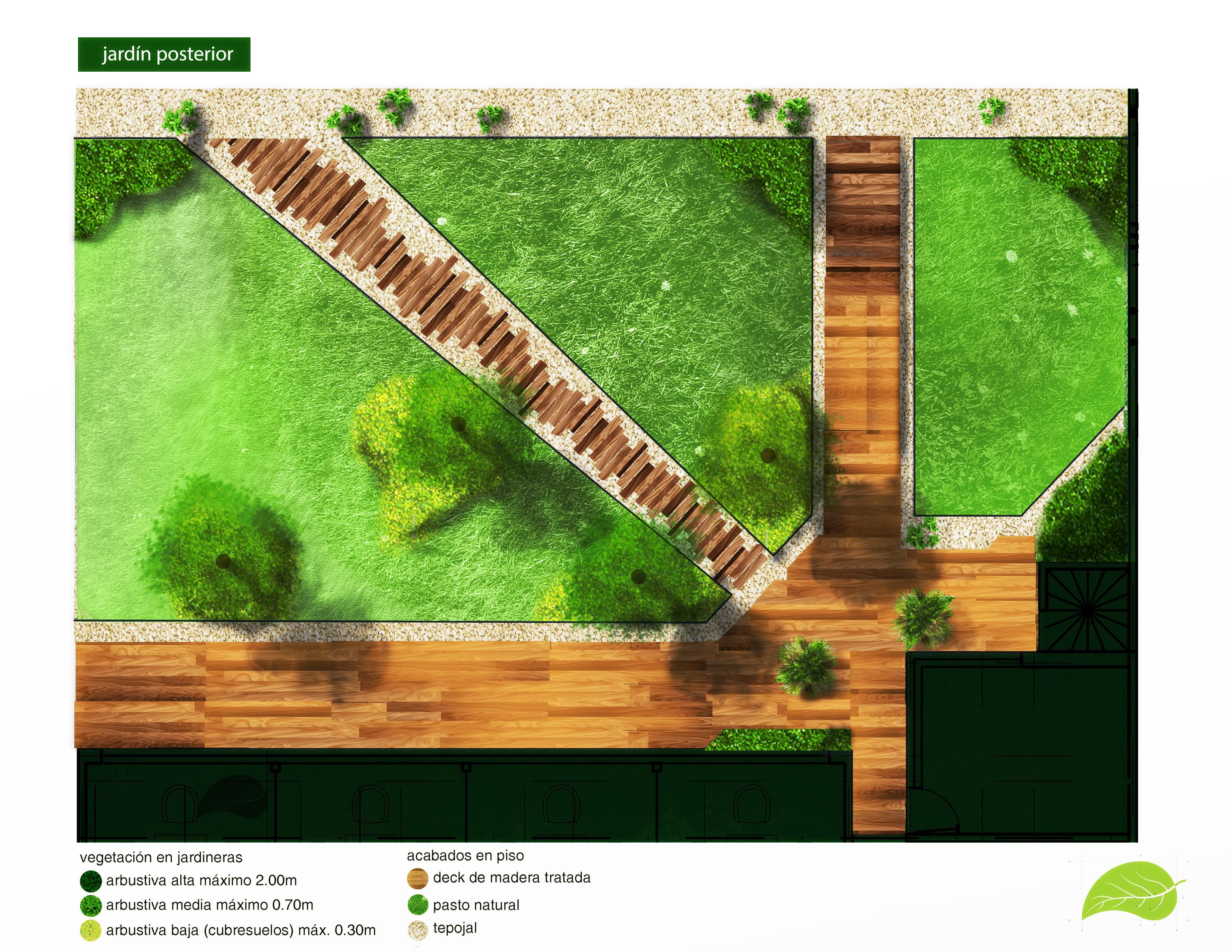 jardín exterior propuesta 1
