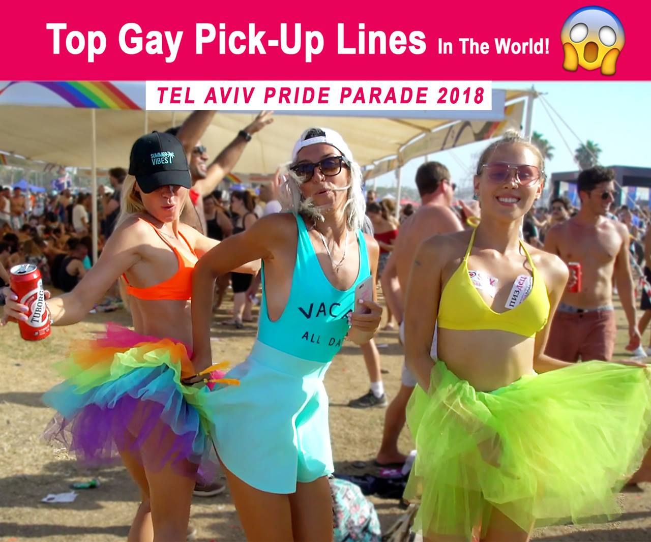 The Best Gay Pick-Up Lines In The World! (Tel-Aviv Pride Parade 2018)