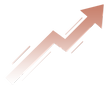 Graph arrow showing growth