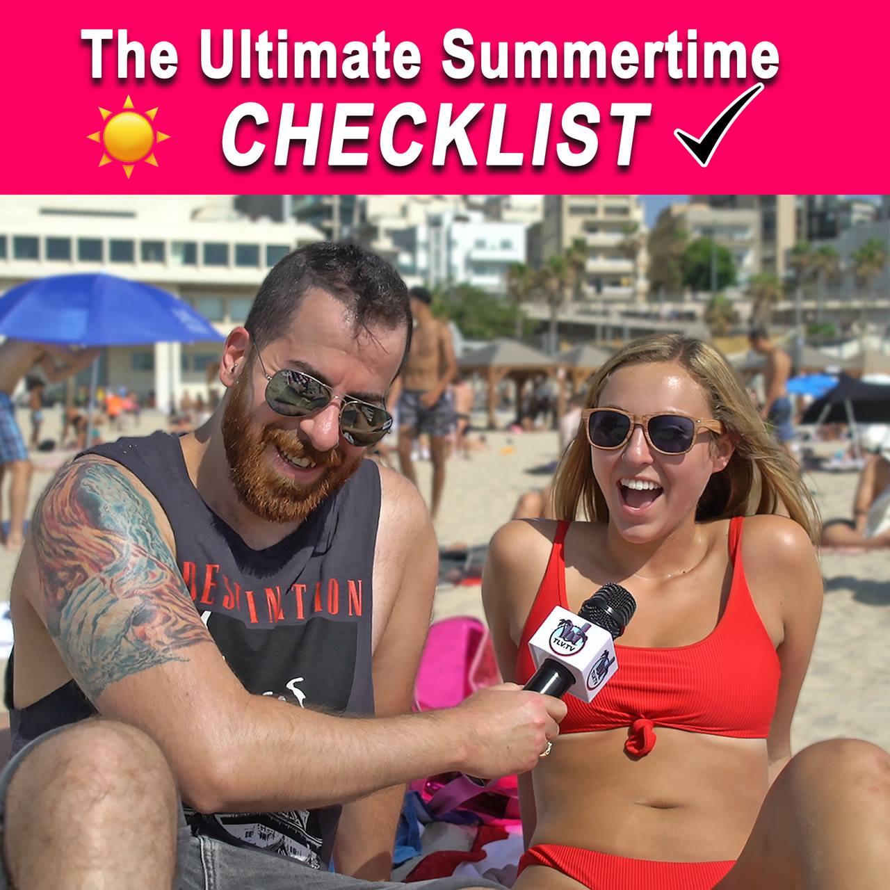 The Ultimate Summertime CHECKLIST - by Random Tel-Avivians!