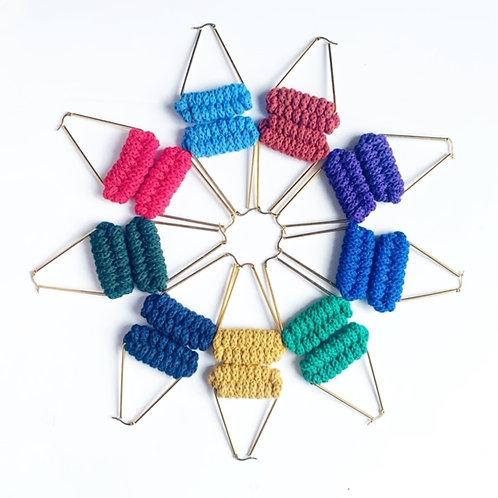 Knitted Crochet Earrings