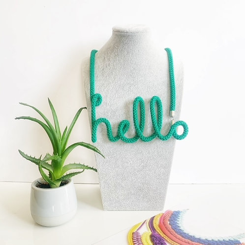The Hello Word Necklace