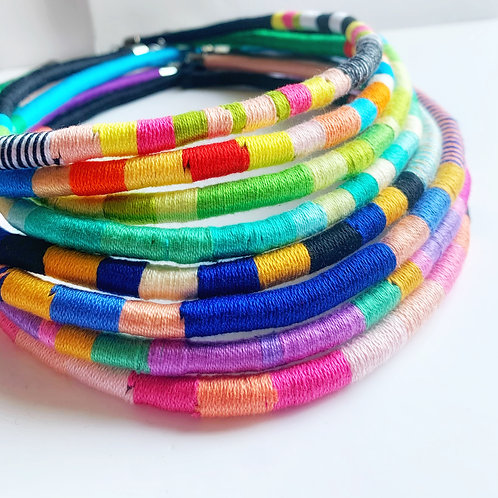 Wrapped Cotton Necklace