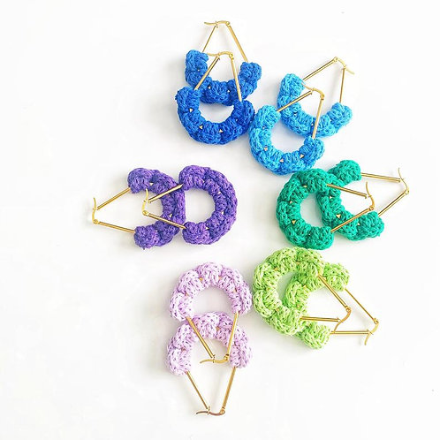 Cotton Crochet Earrings