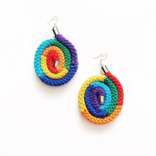 Swirled Rainbow Earrings