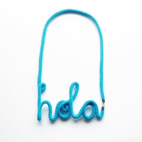 Turquoise Blue Hola Necklace by Handmade by Tinni.jpeg