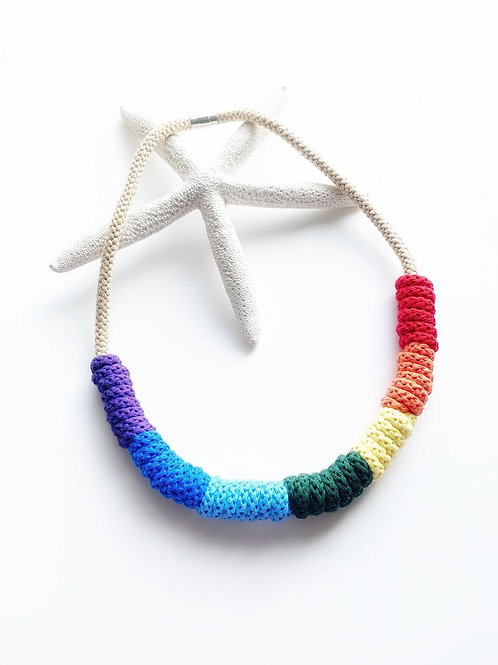 Rita Rainbow Knitted Necklace