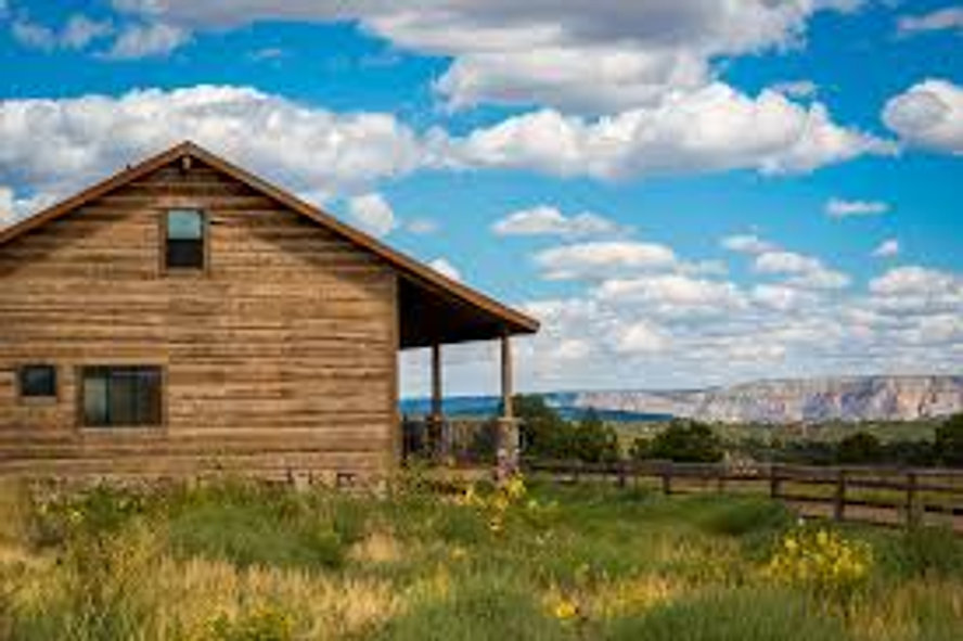 A homestead in the mountains of Montana
