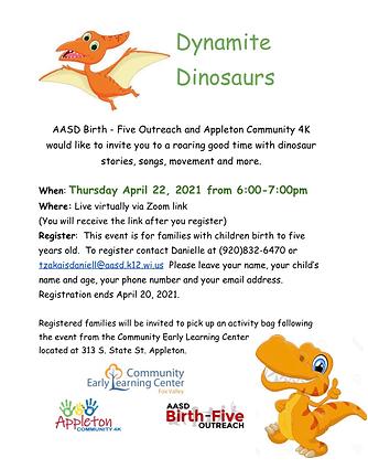 APRIL - Dynamite Dinosaurs Virtual Event