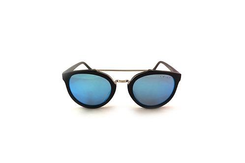 Blue Mirror Matt Black