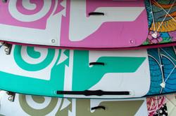 Paddleboards colorés
