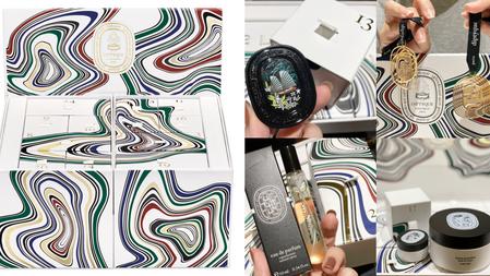 DIPTYQUE『2021聖誕倒數月曆』雙層珍寶禮盒:正貨杜桑香膏、肌膚之華淡香精、12顆香氛蠟燭全收入!