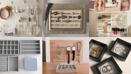 精品店等級收納→『16款風格飾品收納』不僅用來配戴、也能佈置房間!手錶收藏家絕對會愛上♥