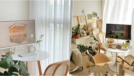 日女子單身公寓美學公式→1張『INS風小白圓桌』擺上、居家空間釋放70%、連氛圍都變得甜美起來!