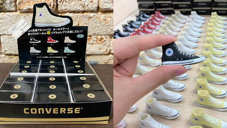 CONVERSE現在買一箱剛剛好→100%神還原『帆布鞋橡皮擦』鞋盒連尺寸標都有、這雙鞋控不收不行吧!