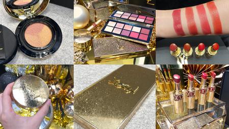 【2021聖誕彩妝】YSL 限量流金聖誕系列,唇膏、眼影盤、氣墊粉餅都注入流光金!首次推出3色打亮氣墊,就是要讓肌膚奢華又閃光!
