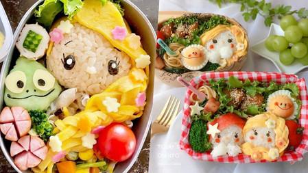 日本媽媽挑戰史上最簡單→TsumTsum風『迪士尼Q版公主便當』會把飯糰捏圓的都做得到!可愛到飯吃光光♡