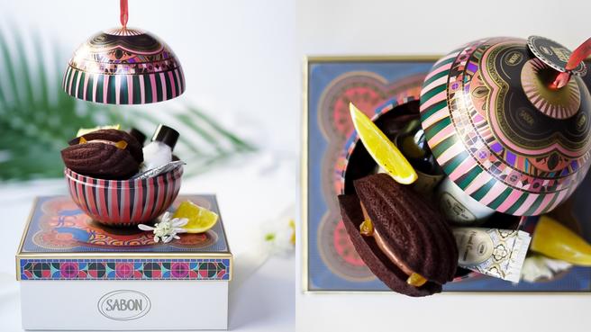 【2021聖誕聯名】SABON把香氣化為美食→大口心心聯名『橙橘巧克力夾心馬德蓮』買一盒送一組聖誕香氛體驗組♥
