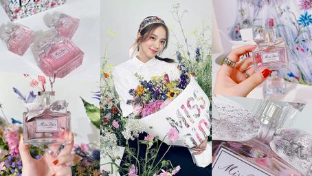 一款如戀愛的香氣!2021全新《Miss Dior香氛》格拉斯玫瑰盛放的蜜糖香,手工精緻緞帶上瓶身,美得如夢似幻♡