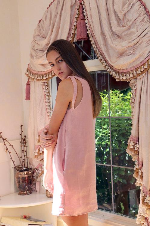 Cutout Linen Dress