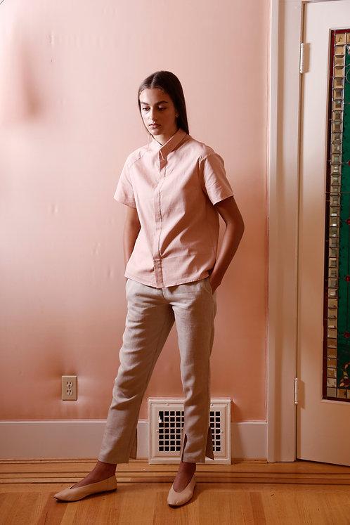 Asymmetrical Linen Shirt