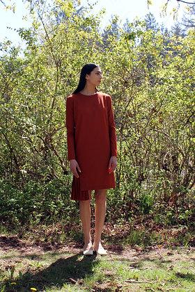 Dress with Pleated Hem