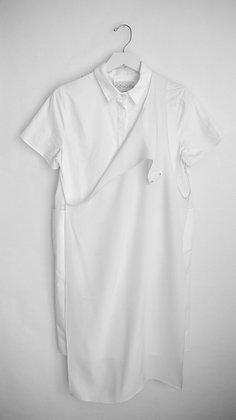 Shirt Dress with Silk Front