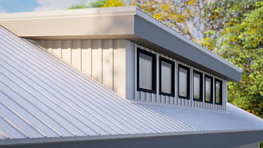modern metal board and batten siding