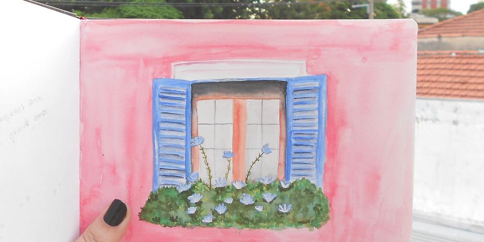 Workshop de aquarela na PU - Agosto