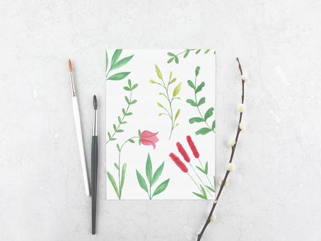 Freebie - Flores, folhas e galhos