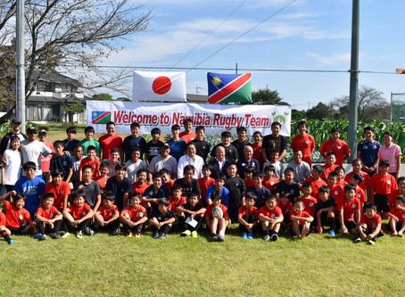 ナミビアU15チームを迎えて国際交流