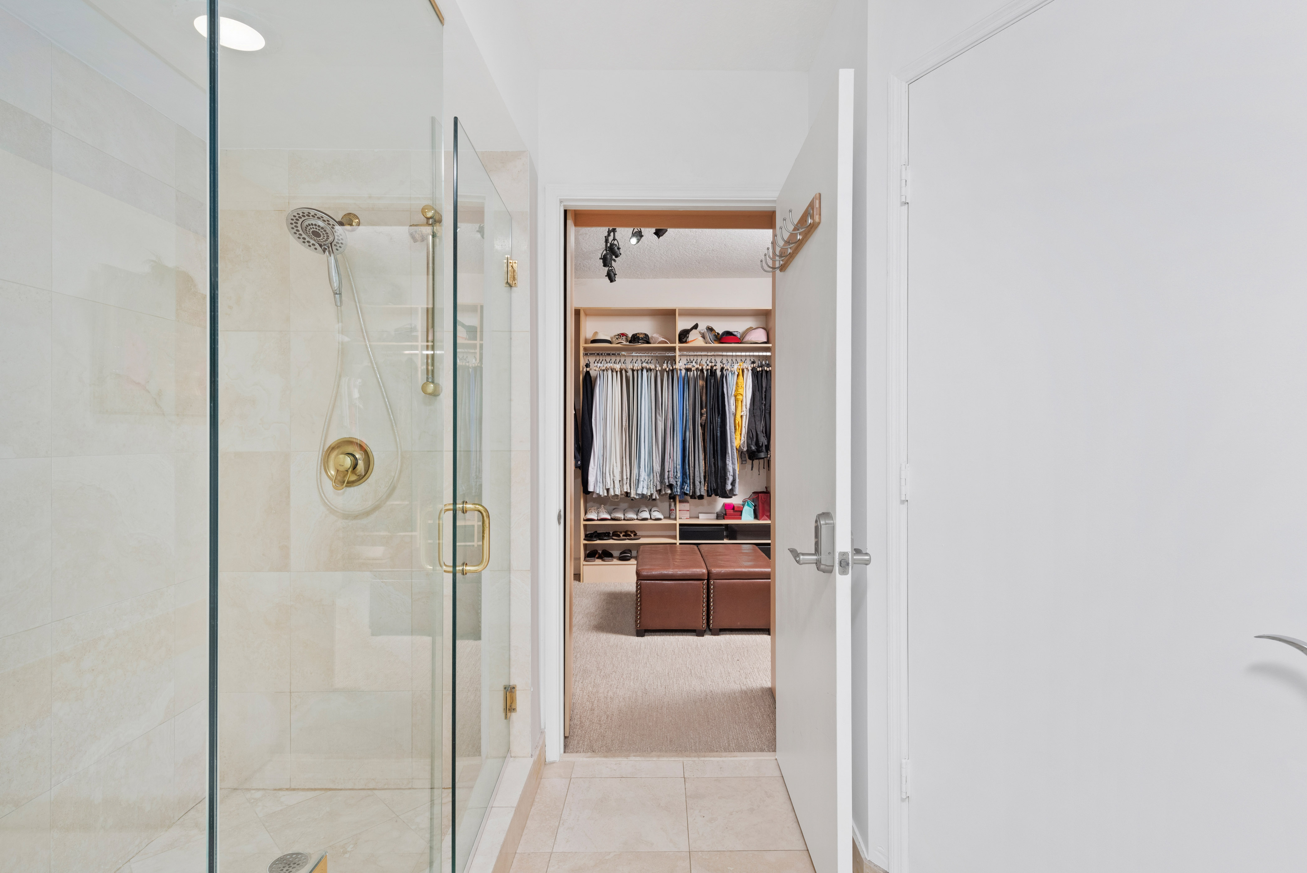 Entrance to master walk-in closet