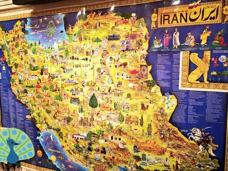イランの素敵な絵地図