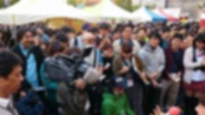取材中の様子です@かんだかれーかんだかれーぐら神田カレーグランプリ決勝戦