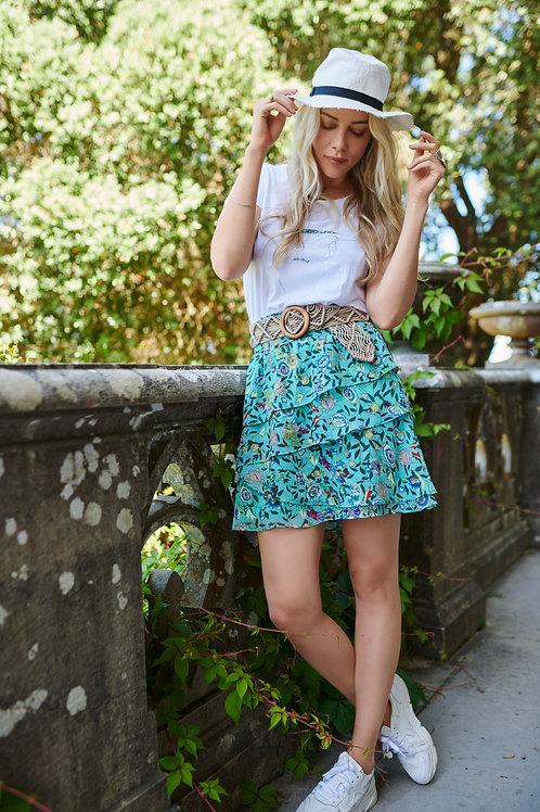 Esqualo Garden Print Skirt